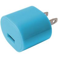 IESSENTIALS IE-AC1USB-BLU 1-Amp USB Wall Charger (Blue) (R-IEAC1USBBLU)