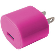 IESSENTIALS IE-AC1USB-PK 1-Amp USB Wall Charger (Pink) (R-IEAC1USBPK)