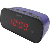 """TIMEX T121U Alarm Clock with .7"""" Red Display (Purple) (R-IHMT121U)"""