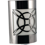GE 11358 Auto Geometric Faux Nickel LED CoverLite(TM) Night-Light (R-JAS11358)