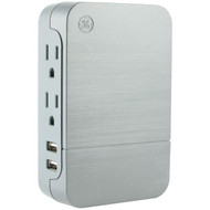 General Electric 33642 2-Outlet Surge-Protector Wall Tap with 2 USB Ports (R-JAS33642)