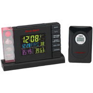 FIRST ALERT SFA2650 Radio-Controlled Weather Station Alarm Clock with Wireless Sensor (R-JENSFA2650)