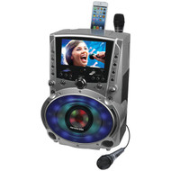 "KARAOKE USA GF758 DVD/CD+G/MP3+G Bluetooth(R) Karaoke System with 7"" TFT Color Screen & LED Sync Lights (R-JSKGF758)"