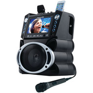 "KARAOKE USA GF840 DVD/CD+G/MP3+G Bluetooth(R) Karaoke System with 7"" TFT Color Screen (R-JSKGF840)"