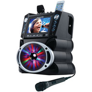 "KARAOKE USA GF842 DVD/CD+G/MP3+G Bluetooth(R) Karaoke System with 7"" TFT Color Screen & LED Sync Lights (R-JSKGF842)"