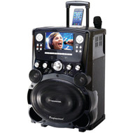 "KARAOKE USA GP978 Professional DVD/CD+G/MP3+G Bluetooth(R) Karaoke System with 7"" TFT Color Screen & Tote Wheels (R-JSKGP978)"