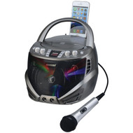 KARAOKE USA GQ263 Portable CD+G Karaoke Player with Flashing LED Lights (R-JSKGQ263)