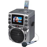 "KARAOKE USA GQ743 CD+G Bluetooth(R) Karaoke System with 4.3"" TFT Color Screen (R-JSKGQ743)"
