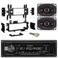 """Kenwood Bluetooth CD Radio, Kicker 6.5"""" Speaker Set, Jeep Eagle 88-96 Radio Kit (R-KDC118-40CS464-70-1002-99-5700)"""
