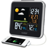 LA CROSSE TECHNOLOGY 308-146 Wireless Atomic Color Weather Station with USB Charging (R-LCR308146)