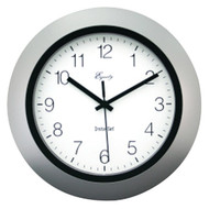 "EQUITY BY LA CROSSE 40222S 10"" Silver Insta-Set Wall Clock (R-LCR40222S)"