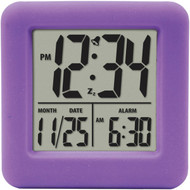 EQUITY BY LA CROSSE 70904 Soft Cube LCD Alarm Clock (Purple) (R-LCR70904)