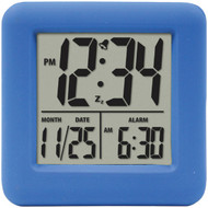 EQUITY BY LA CROSSE 70905 Soft Cube LCD Alarm Clock (Blue) (R-LCR70905)