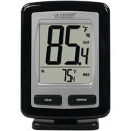 LA CROSSE TECHNOLOGY WS-9009BK-IT-CBP Black Wireless Temperature Station (R-LCRWS9009ITCBP)