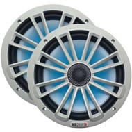 """MB Quart NK1-120L Nautic Series 8"""" 140-Watt 2-Way Coaxial Speaker System (With LED Illumination) (R-MBQNK1120L)"""