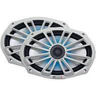 "MB Quart NK1-169L Nautic Series 6"" x 9"" 140-Watt 2-Way Coaxial Speaker System (With LED Illumination) (R-MBQNK1169L)"