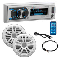 "Boss Marine Single Din Media Receiver With Bluetooth Pair 6.5"" Speakers Antenna Aux (R-MCK632WB6)"