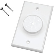 MIDLITE 1GWH-GR1 Single-Gang Wireport(TM) Wall Plate with Grommet (White) (R-MDT1GWHGR1)
