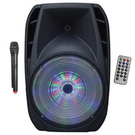 "Maxpower Single 8"" Woofer Built In Rechargeable Battery & Wireless Mic (R-MPD88L)"