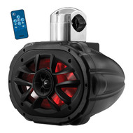 "Boss 6X9"" 2-Way Marine Wake Tower Speaker (Each) With Rgb Lights 600W Black (R-MRWT69RGB)"