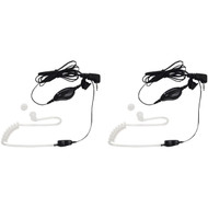 MOTOROLA 1518 2-Way Radio Accessory (2-Way Radio Surveillance Headset with PTT Microphone) (R-MTR1518)
