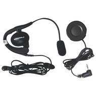 MOTOROLA 1884 Wired Headset with Boom Microphone & PTT Button Bundle (R-MTR1884)