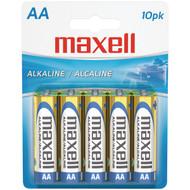 MAXELL 723410 - LR610BP Alkaline Batteries (AA; 10 pk; Carded) (R-MXLAA10PK)