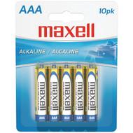MAXELL 723810 - LR0310BP Alkaline Batteries (AAA; 10 pk; Carded) (R-MXLAAA10PK)