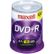 MAXELL 639016 4.7GB 120-Minute DVD+Rs (100-ct Spindle) (R-MXLDVD+R100S)