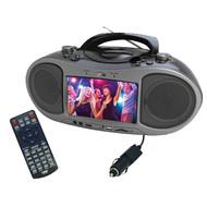 "Naxa Bluetooth Dvd Boombox With Built-In 7"" Lcd Screen (R-NDL256)"