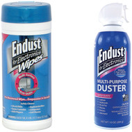 Endust 11384 Electronics Duster & 259000 Anti-static Pop-up Wipes (R-NOZAS70KIT)