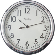 "WESTCLOX 32041AB 12"" Round Vintage Kitchen Classic Clock, Black (R-NYL32041AB)"