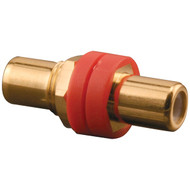 PRO-WIRE X-RGRG R RCA Front & Back Connectors (Red color-coded insulator) (R-OEMXRGRGR)