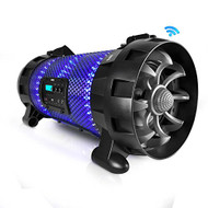 Bluetooth + NFC BoomBox Stereo Speaker System with Multi-Color App Controlled LED Party Lights, Built-in Rechargeable Battery (R-PBMSPG260L)