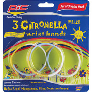 PIC BAND3 PIC Citronella Plus Wristband, 3 ct (R-PCOBAND3)