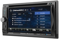 "Power Acoustik 6.2"" Double Din Receiver With Bluetooth Sxm Interface  & Detachable Faceplate (R-PD625XB)"