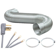 PET90-1024 Dryer Connection Bundle with 5ft Ducting & 3-Wire Cord (R-PETD6C-KIT)