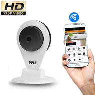 HD 720p IP Cam / WiFi Camera, Wireless Remote Surveillance Monitoring, Built-in Speaker & Microphone for 2-Way Communication, Downloadable App (White) (R-PIPCAMHD22WT)