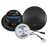 Universal Mount Bluetooth Speaker & Amplifier System - Marine Grade Amp + Speaker Kit (6.5'' Speakers, 240 Watt) (R-PLMRKT9)