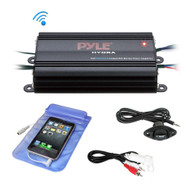 Bluetooth Marine Amplifier Kit, 4-Ch. Waterproof Audio Power Amp System (R-PLMRMB4CB)