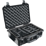 "PELICAN 1500-004-110 Protector Case(TM) with Padded Divider (1500 Case; Dim: 16.75""L x 11.18""W x 6.12""H) (R-PLO1500CASE)"