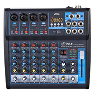 6-Ch. Bluetooth Studio Mixer - DJ Controller Audio Mixing Console System (R-PMXU63BT)