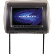 "POWER ACOUSTIK H-71CC Universal Headrest Monitor with IR Transmitter & 3 Interchangeable Skins (7"") (R-POWH71CC)"