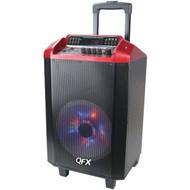 QFX PBX-2101RED 2,600-Watt PBX-2101 Portable Bluetooth(R) Party Speaker (R-QFXPBX2101)