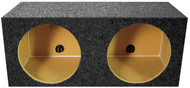 "Empty Woofer Box (2)15"" Qpower Square Style; *Mpsq15E* (R-QMPSQ15E)"
