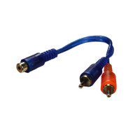 Qpower 2 Male Splitter RCA Superflex (R-RCA2M1FSFLEX)