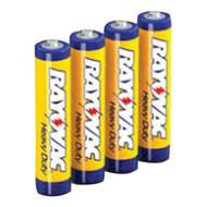 RAYOVAC 3AAA-4F Heavy-Duty Zinc Carbon Batteries (AAA; 4 pk) (R-RVC3AAA4F)