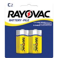 RAYOVAC 4C-2BF Heavy-Duty Zinc Carbon Batteries (C; 2 pk) (R-RVC4C2BF)