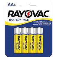 RAYOVAC 5AA-4F Heavy-Duty AA Batteries, 4 pk (R-RVC5AA4F)