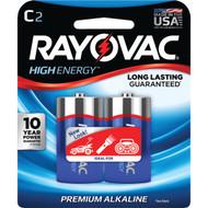 RAYOVAC 814-2J Alkaline Batteries (C; 2 pk) (R-RVC8142F)